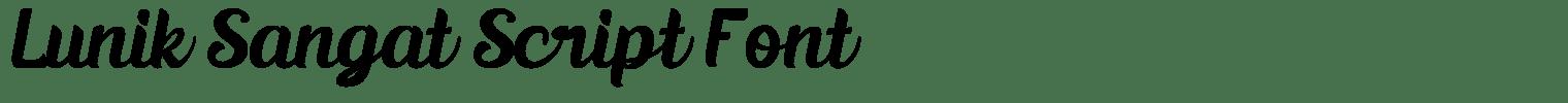 Lunik Sangat Script Font