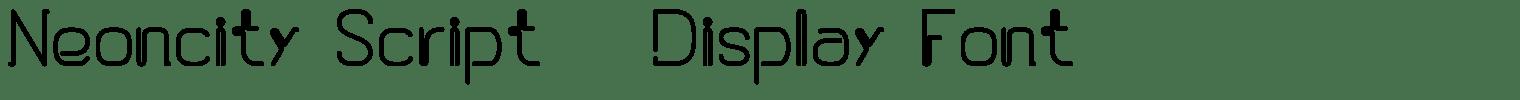 Neoncity Script & Display Font