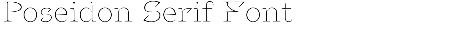 Poseidon Serif Font