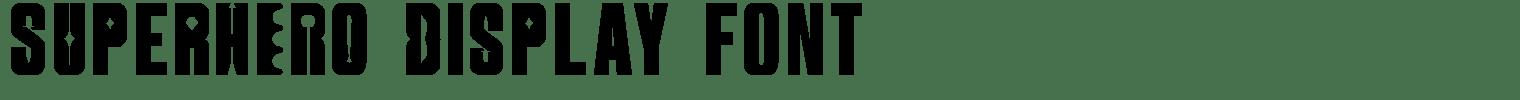 SUperHERO Display Font