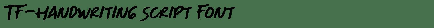 TF-Handwriting Script Font