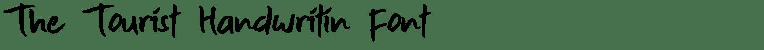 The Tourist Handwritin Font