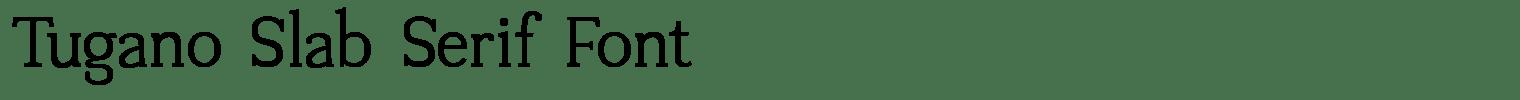 Tugano Slab Serif Font