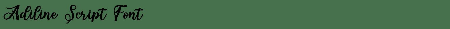 Adiline Script Font