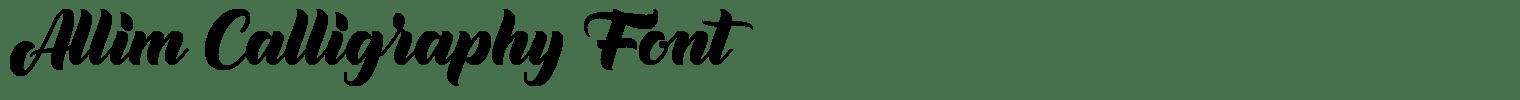 Allim Calligraphy Font
