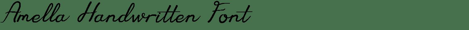 Amella Handwritten Font