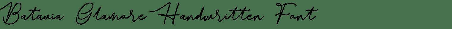 Batavia Glamore Handwritten Font