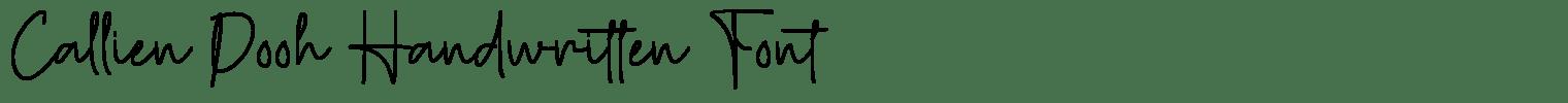 Callien Pooh Handwritten Font