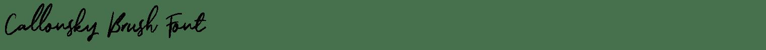 Callonsky Brush Font