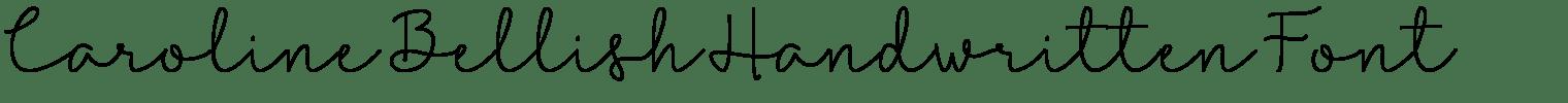 Caroline Bellish Handwritten Font