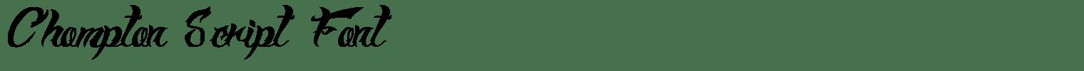 Chompton Script Font