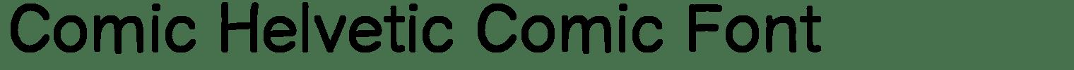 Comic Helvetic Comic Font