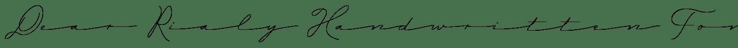 Dear Rialy Handwritten Font
