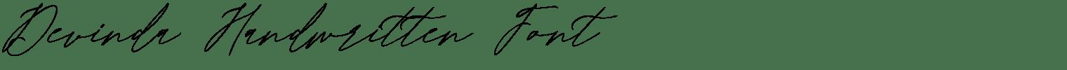 Devinda Handwritten Font
