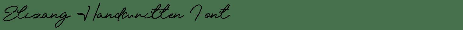 Elizany Handwritten Font