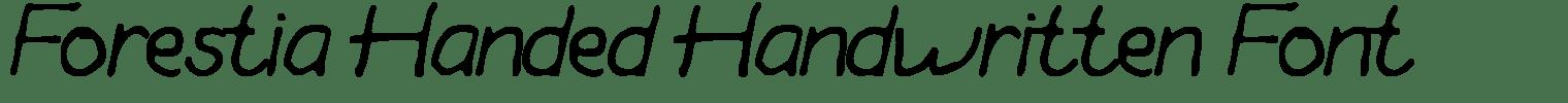 Forestia Handed Handwritten Font