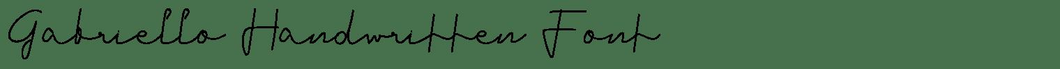 Gabriello Handwritten Font