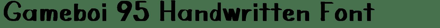 Gameboi 95 Handwritten Font