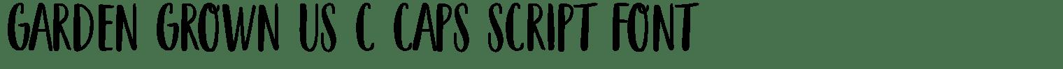 Garden Grown US C Caps Script Font
