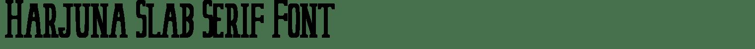 Harjuna Slab Serif Font