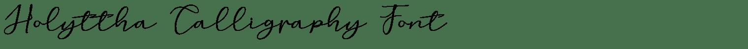 Holyttha Calligraphy Font