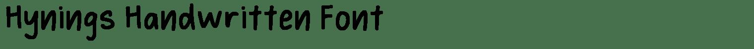 Hynings Handwritten Font