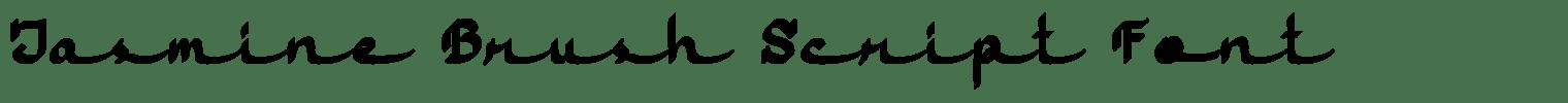 Jasmine Brush Script Font