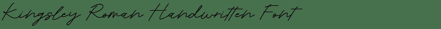 Kingsley Roman Handwritten Font