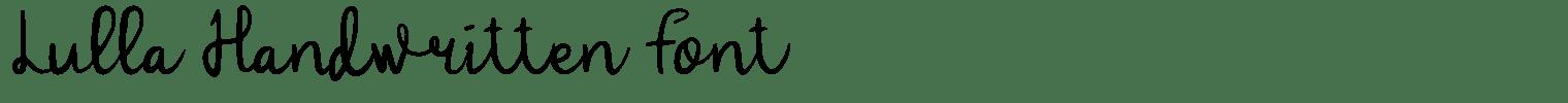 Lulla Handwritten Font