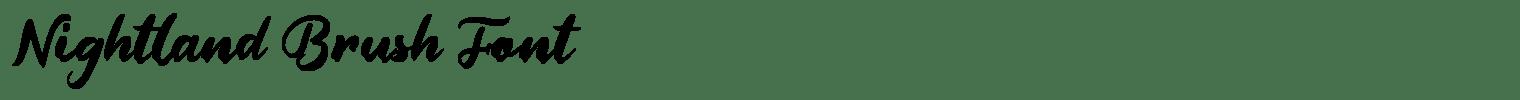 Nightland Brush Font
