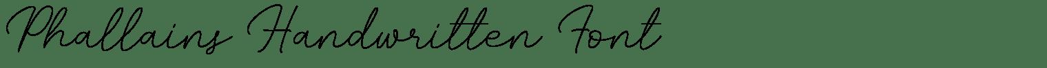Phallains Handwritten Font