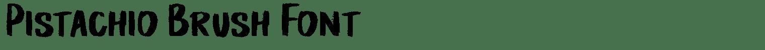 Pistachio Brush Font