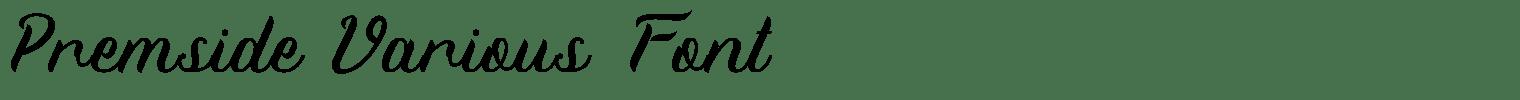 Premside Various Font
