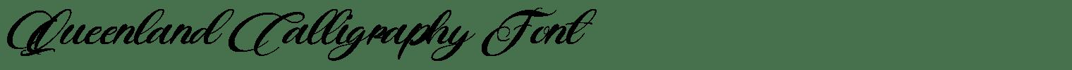 Queenland Calligraphy Font
