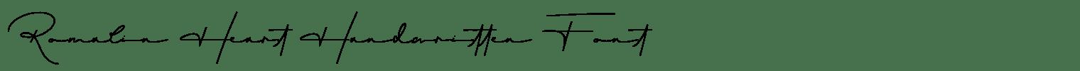 Romalin Heart Handwritten Font