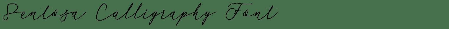 Sentosa Calligraphy Font