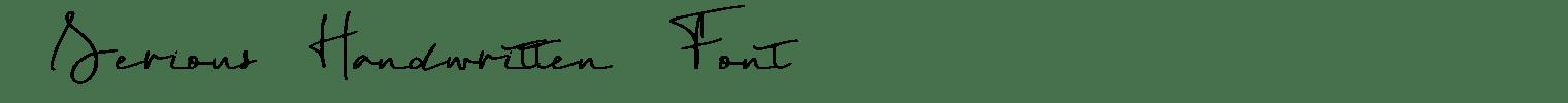 Serious Handwritten Font