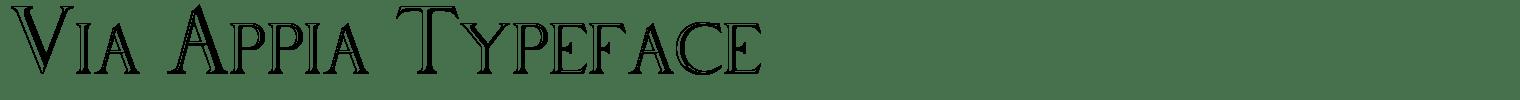 Via Appia Typeface