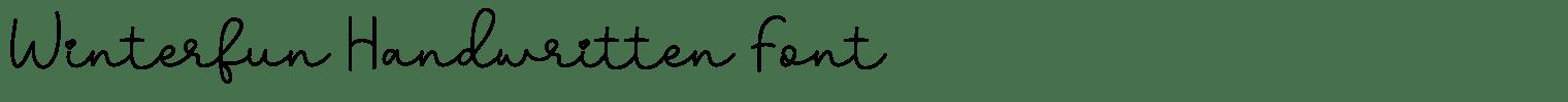 Winterfun Handwritten Font
