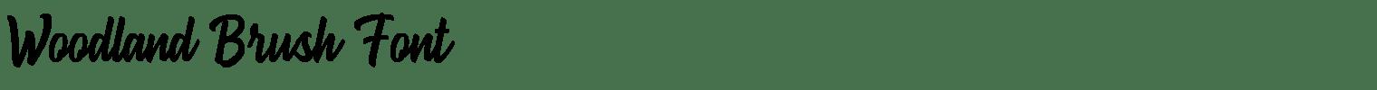 Woodland Brush Font