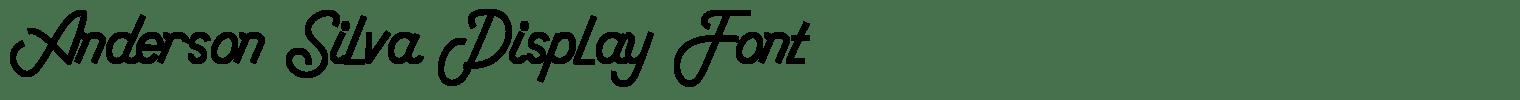 Anderson Silva Display Font
