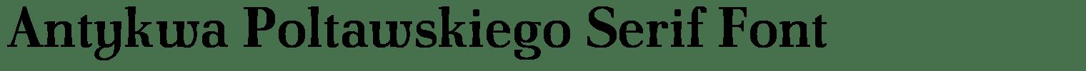 Antykwa Poltawskiego Serif Font
