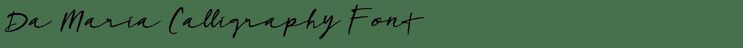 Da Maria Calligraphy Font