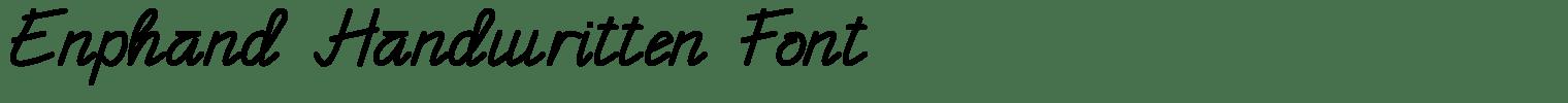 Enphand Handwritten Font