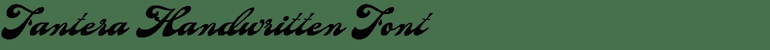 Fantera Handwritten Font