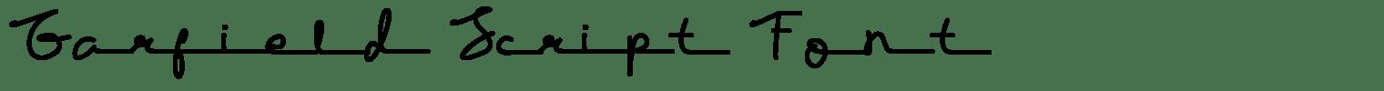 Garfield Script Font