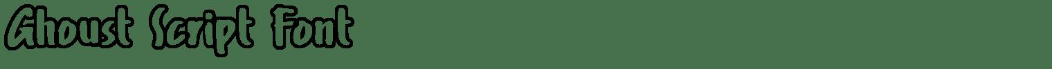 Ghoust Script Font
