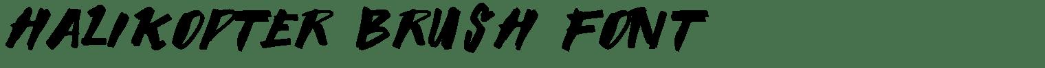 Halikopter Brush Font