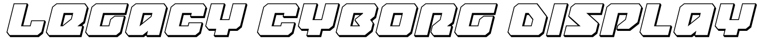 Legacy Cyborg Display Font