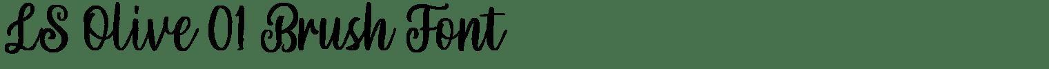 LS Olive 01 Brush Font